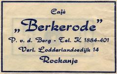 SZ1121. Café Berkerode.