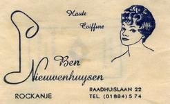 SZ1123. Haute Coiffure Ben Nieuwenhuijsen.