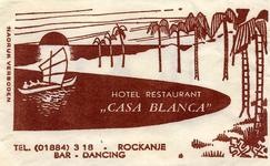 SZ1124. Hotel, Restaurant, Bar, Dancing Casa Blanca.