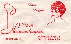 SZ1152. Haute Coiffure Ben Nieuwenhuijsen.