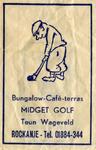 SZ1154. Bungalow, Café, Terras Midget Golf.