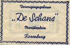 SZ1206. Verenigingsgebouw De Schans.