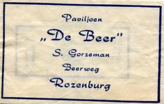 SZ1208. Paviljoen De Beer.