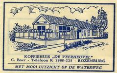 SZ1209. Koffiehuis De Veerheuvel - met mooi uitzicht op de Waterweg.