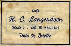 SZ1501. Café K.C. Langendoen.