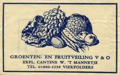 SZ1602. Groenten- en Fruitveiling V&O - Expl. Cantine W. 't Mannetje.