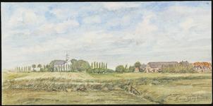 SPUIJBROEK_015A Kijkje op het dorp Simonshaven vanuit de polder, ca. 1965