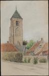 SPUIJBROEK_045A De kerktoren van Nieuw-Helvoet, 1933