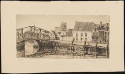 SPUIJBROEK_048 Kijkje op de Rode brug, de St. Catharijnekerk en café Dixi, ca. 1935