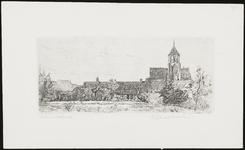 SPUIJBROEK_070 Het dorp Nieuw-Helvoet met de kerk, ca. 1935