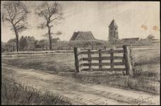 SPUIJBROEK_116 Het dorp Nieuw-Helvoet met de kerk, gezien vanaf de Stormweg, 1929
