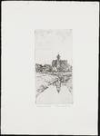 SPUIJBROEK_155 De kerktoren van Nieuw-Helvoet vanuit het westen gezien, ca. 1935