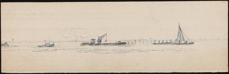 SPUIJBROEK_210 Begin van de aanleg van de bouwput voor de aanleg van het sluizencomplex van de Haringvlietdam, ca. 1955