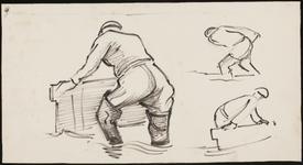 SPUIJBROEK_244 Studie van een Deltawerker, 1955