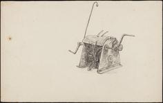 SPUIJBROEK_247 Aanleg van de werkhaven: een lier (studie), 1955