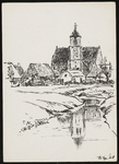 SPUIJBROEK_247D Verjaardagskaart van de Hervormde Gemeente Nieuw-Helvoet. De kerk van Nieuw-Helvoet, gezien vanuit het ...