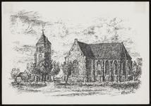 SPUIJBROEK_247E Verjaardagskaart van de Hervormde Gemeente Nieuw-Helvoet. De kerk van Nieuw-Helvoet, 1977