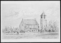 SPUIJBROEK_247F Verjaardagskaart van de Hervormde Gemeente Nieuw-Helvoet. De kerk van Nieuw-Helvoet, 1979
