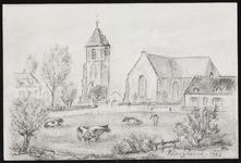 SPUIJBROEK_247H Verjaardagskaart van de Hervormde Gemeente Nieuw-Helvoet. De kerk van Nieuw-Helvoet, 1979