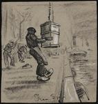 SPUIJBROEK_260 Havenarbeiders bezig met lossen van goederen uit een schip, ca. 1935