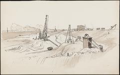 SPUIJBROEK_A_231 Werkzaamheden in de bouwput: heistellingen, ca. 1955