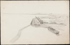 SPUIJBROEK_A_235 Aanleg van de Bouwput: het versterken van de ringdijk, ca. 1955