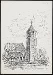 SPUIJBROEK_A_247 Verjaardagskaart van de Hervormde Gemeente Nieuw-Helvoet. De kerk van Nieuw-Helvoet, 1978