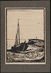 SPUIJBROEK_D_012 Een schokker vaart de haven van Hellevoetsluis binnen, ca. 1935