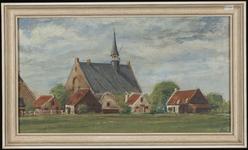 SPUIJBROEK_I_330 Kijkje op het dorp Oudenhoorn met de kerk, 1965