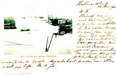 PB3448 Het vallen der grote mastbok, 1900