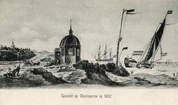 PB5173 Koepel Zeeburg met uitzicht op zee, ca. 1910
