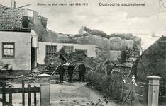 PB5210 Schade aan De Jacobahoeve of Huize Overburgh na de storm van 30 september 1911, 1911