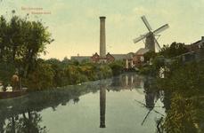 PB8835 Zicht op de molen Nooitgedacht en stoomgemaal, 1908