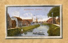 PB8855 De Vierambachtenboezem, met de molen en het Noordeinde, ca. 1910