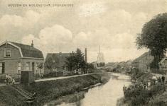 PB8911 De molen Nooitgedacht en het stoomgemaal langs de Vierambachtenboezem, ca. 1915