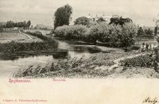 PB9145 Zicht op de Vierambachtenboezem en de derde Heulbrug (Karel Doormanstraat), ca. 1902