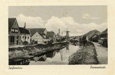 PB9147 Zicht op de Vierambachtenboezem en de Molenlaan, ca. 1935