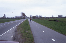 DIA02555 Gezicht op Brielle vanaf de Schrijversdijk; ca. 1991