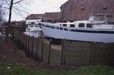 DIA02607 De scheepswerf Delta van Van der Torren, gezien vanaf het Scharloo; ca. 1991