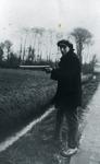 DIA30136 Job Warbout met een geweer in de aanslag; ca. 1915