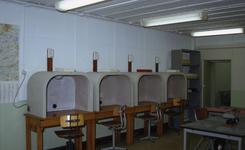 DIA30436 Interieur van de Biberbunker; ca. 1993
