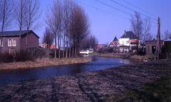 DIA40186 De Vierambachtenboezem, gezien vanaf de Breekade; 1969