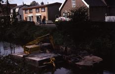 DIA40414 Baggerwerkzaamheden in de Boezem bij de boerderij van Arie Stehouwer; 29 september 1975