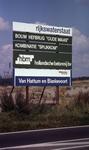 DIA40485 Spijkenisse; ; Bord van de bouw nieuwe Spijkenisserbrug, 17 september 1977