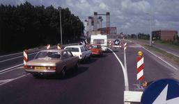 DIA40551 Oprit naar de Spijkenisserbrug vanaf Hoogvliet; 10 juni 1978
