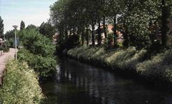 DIA41278 De Vierambachtenboezem, gezien vanaf Eerste Heulbrug; 29 mei 1985