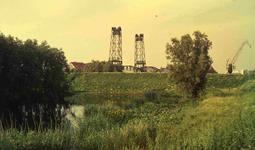 DIA41721 Spijkenisse; ; De aanleg van de nieuwe haven, 1963