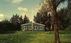 DIA41808 Tijdelijk clubhuis van de Padvinderij nabij de Halfweg; 1963