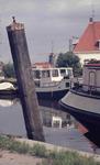 DIA41908 Spijkenisse; ; Meerpaal in de Oude Haven, September 1969