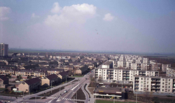 DIA42125 Spijkenisse; ; Zicht op de Planetenlaan vanaf de Marckenburgh, 1973